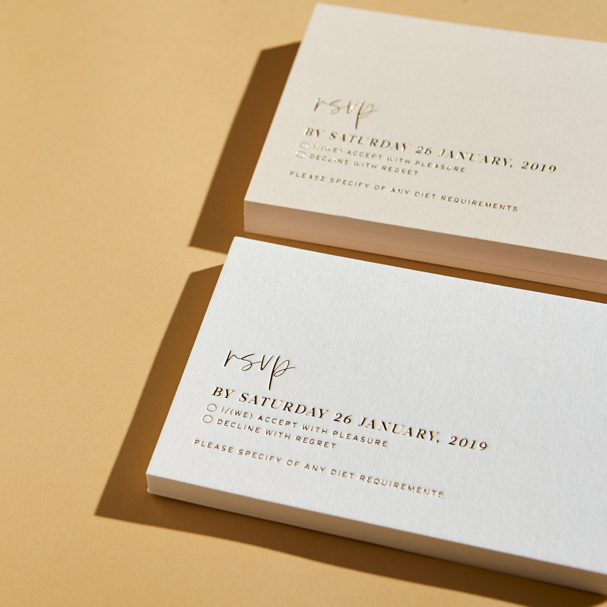- RESPONSE CARDS   Love Letters Foiling