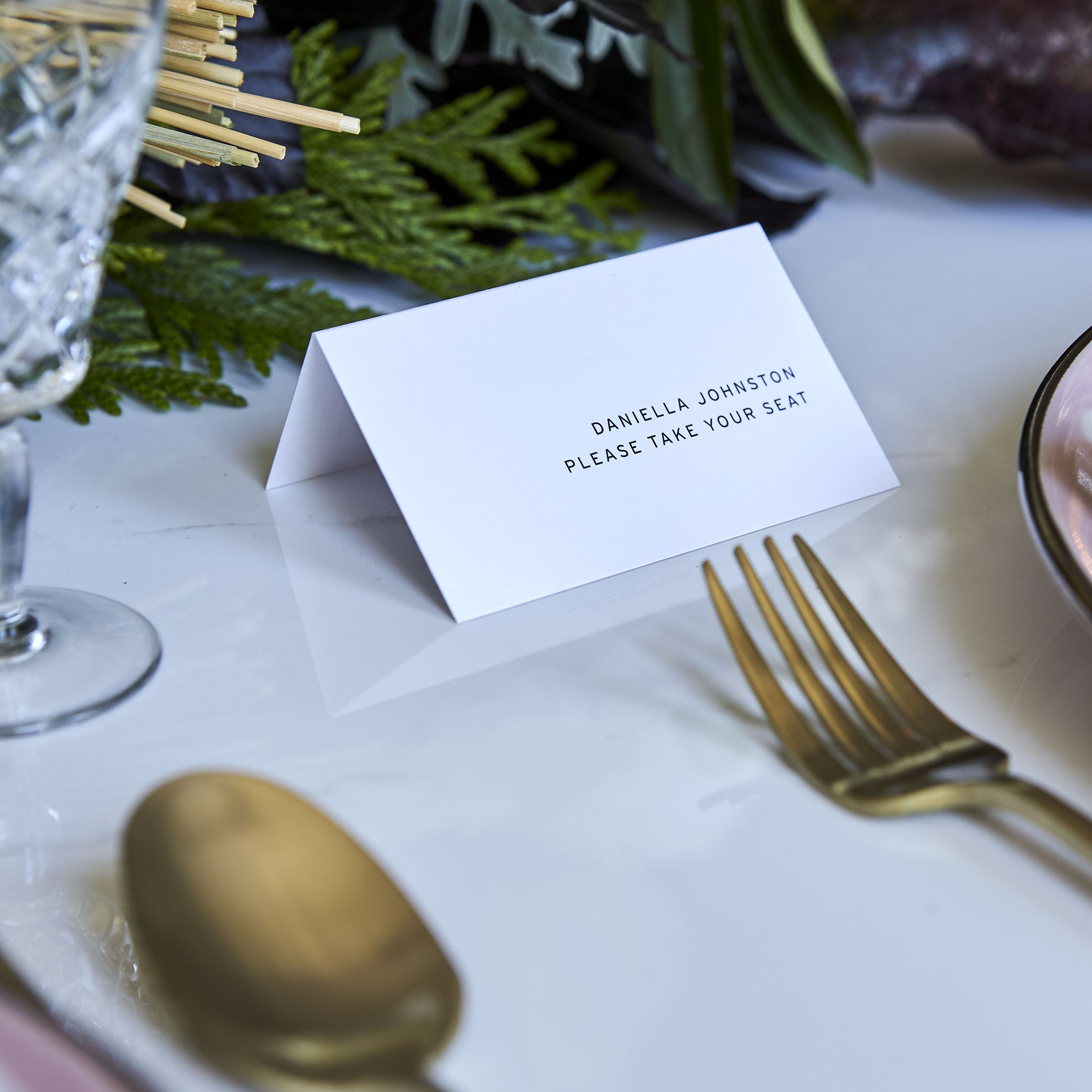 - PLACE CARDS   Folded Card