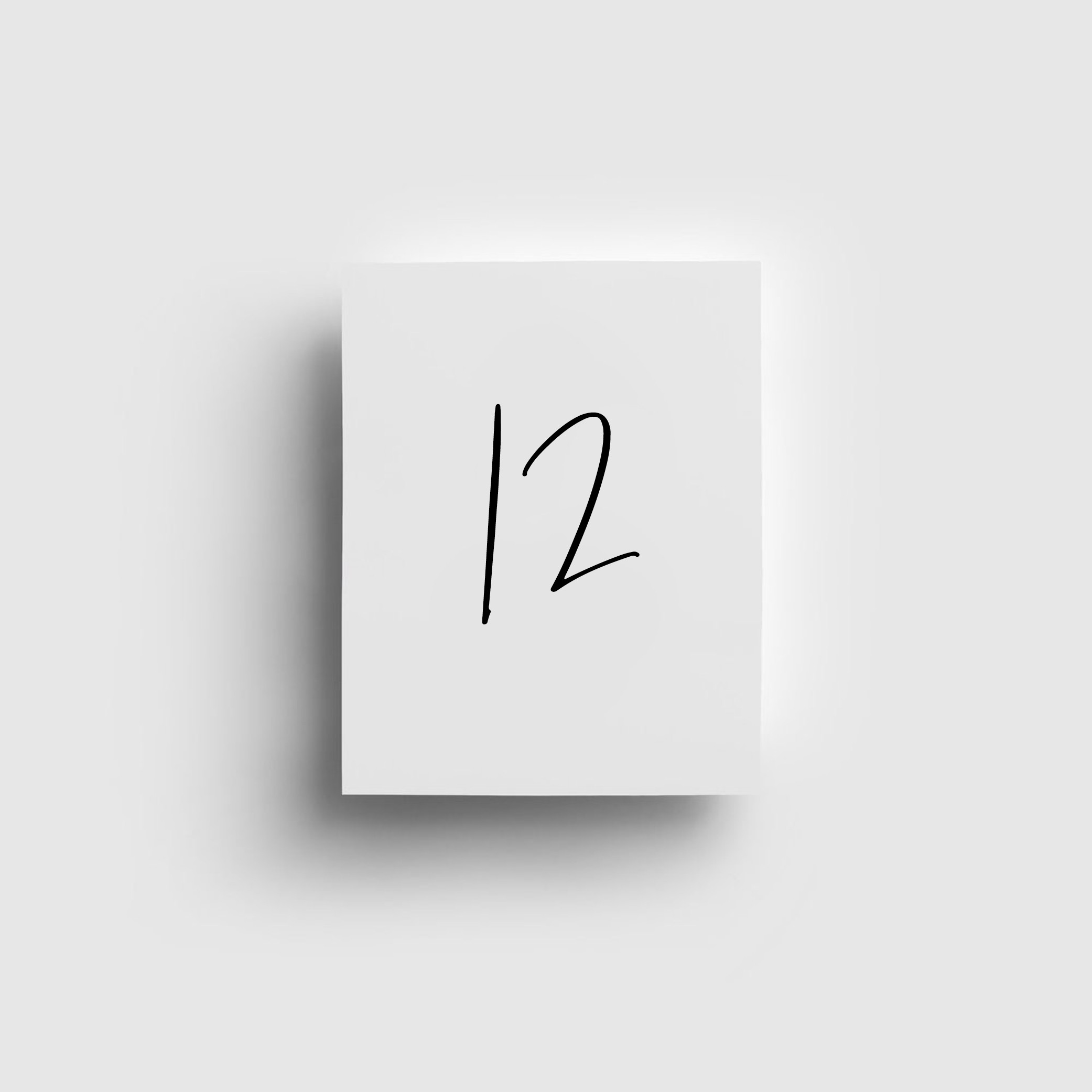 - TABLE NUMBERS