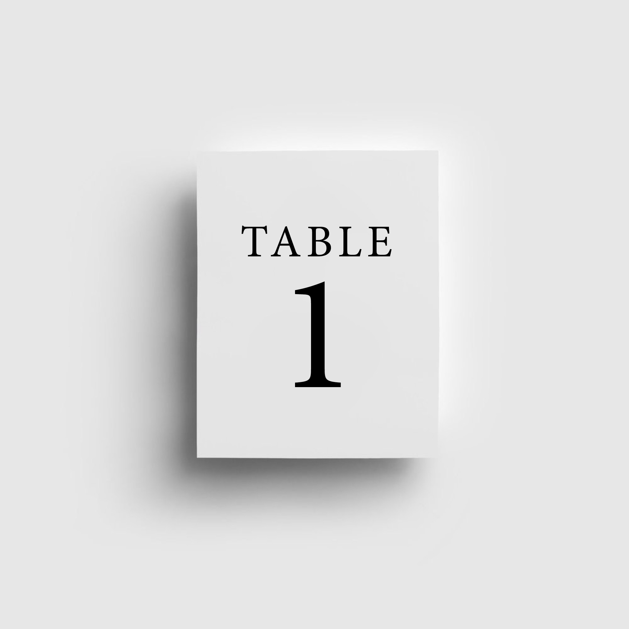 STATIONERY - TABLE NUMBERS | Mr + Mrs Barathy