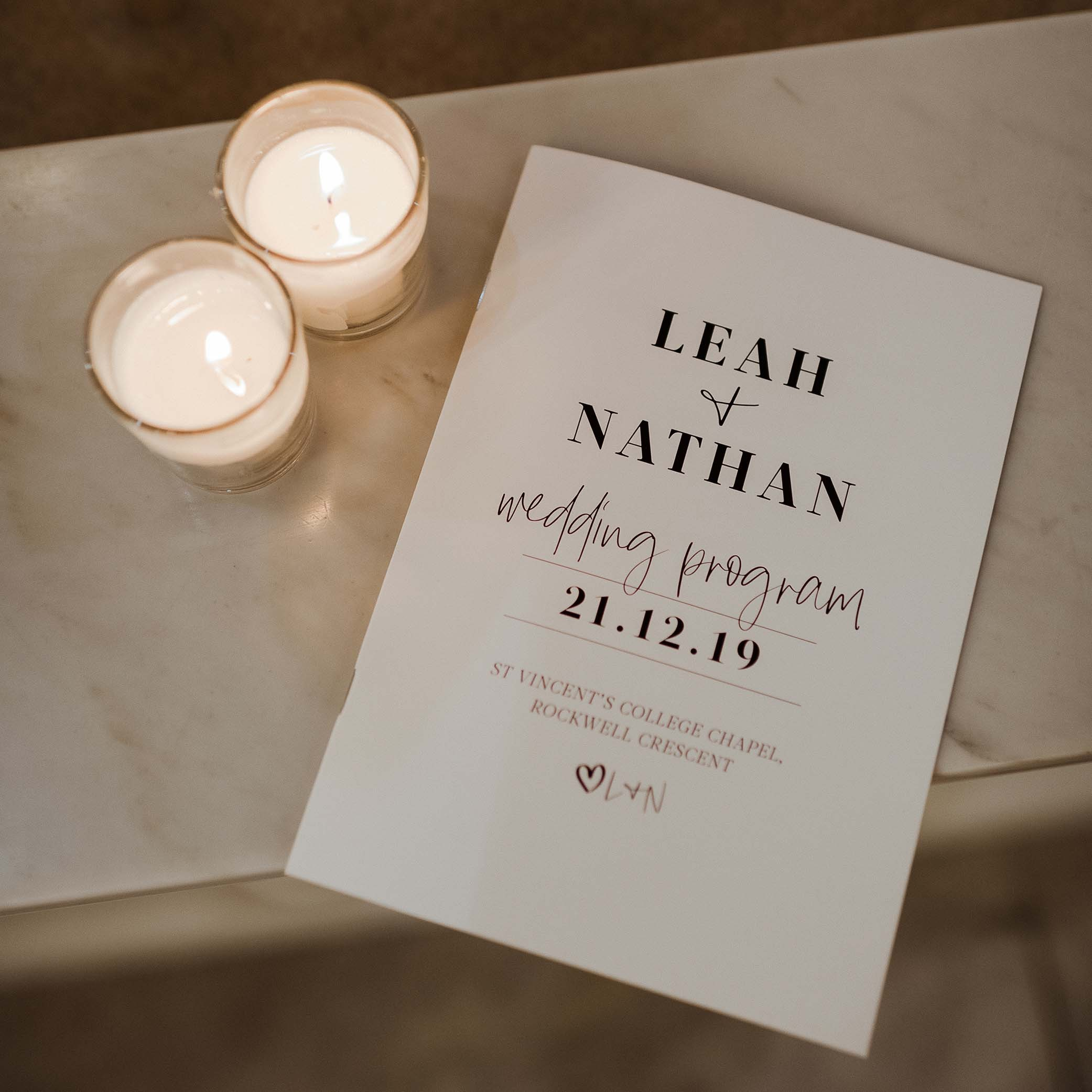 STATIONERY - A5 CEREMONY BOOKS | Leah + Nathan
