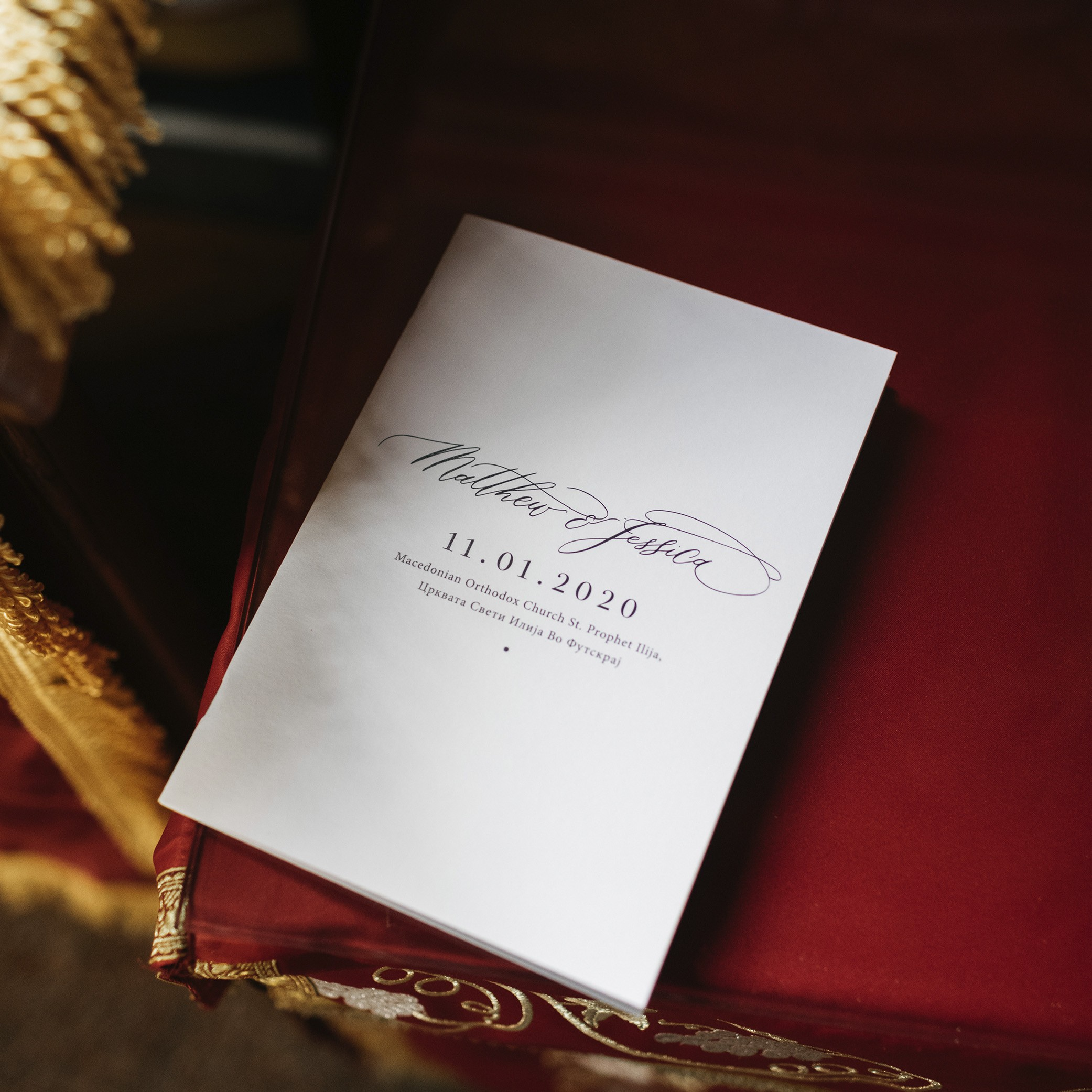 STATIONERY - A5 CEREMONY BOOK | Mr + Mrs Barathy