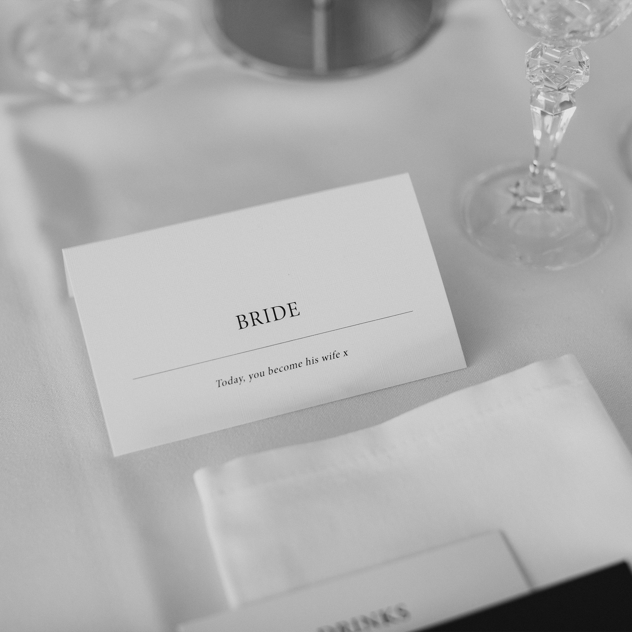 STATIONERY - FOLDED PLACE CARDS | Mr + Mrs Barathy