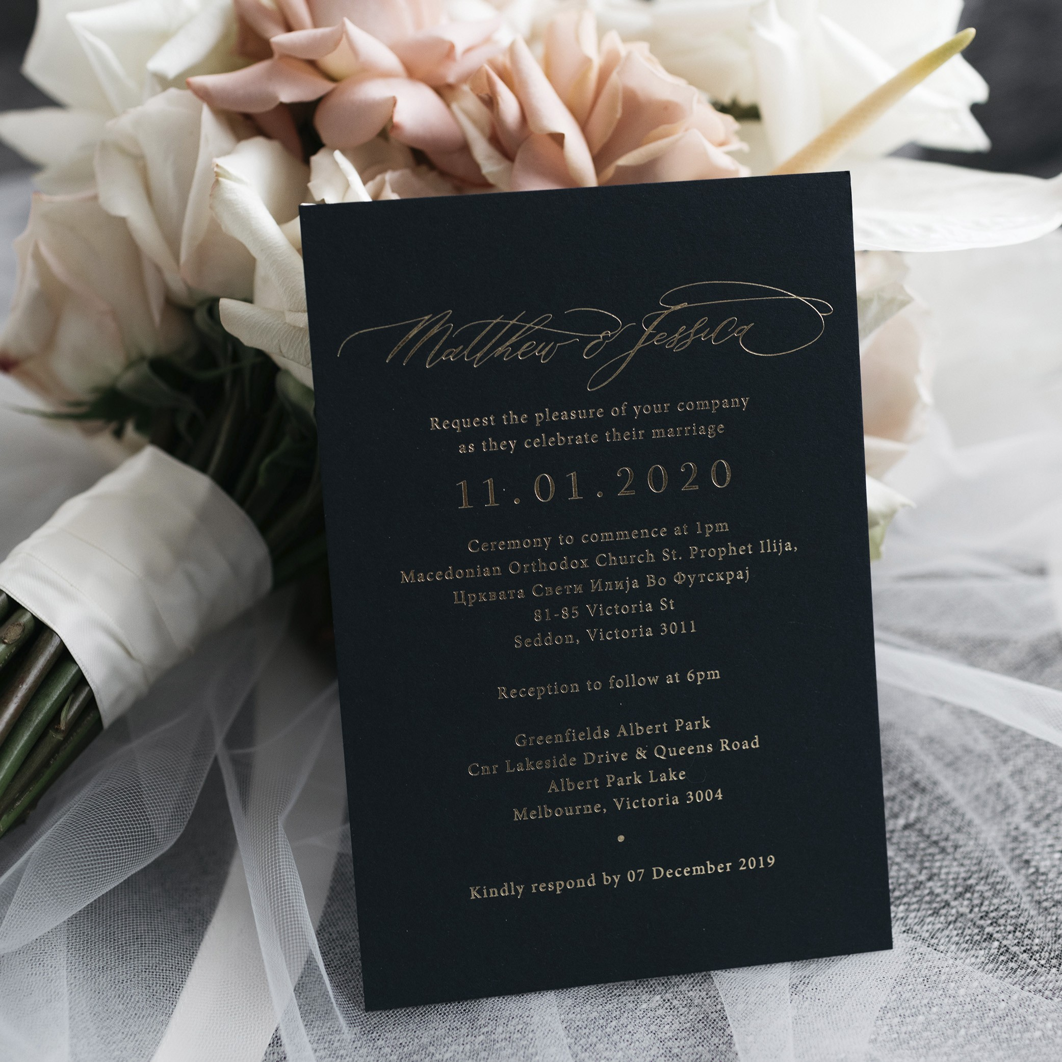 - NAVY INVITATION | Mr + Mrs Barathy