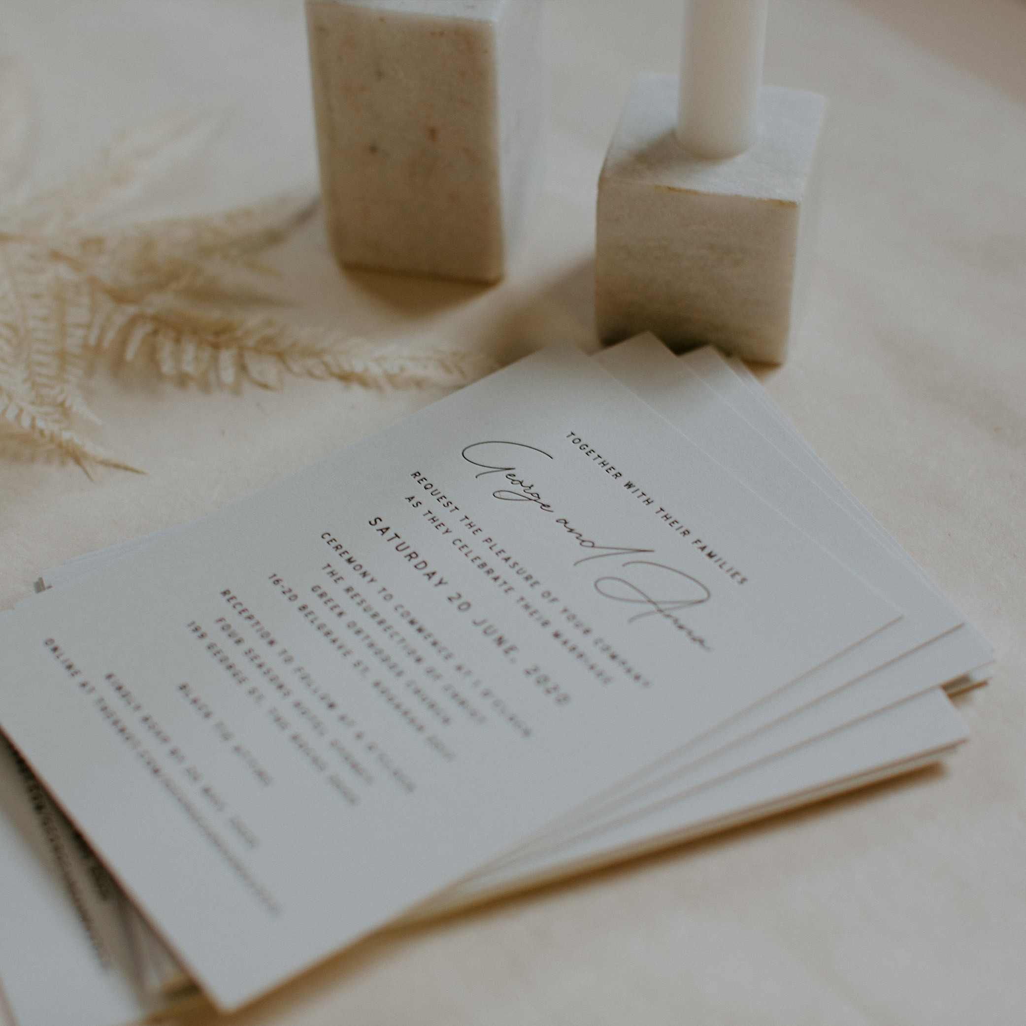 - MAIN INVITATION | George + Anna