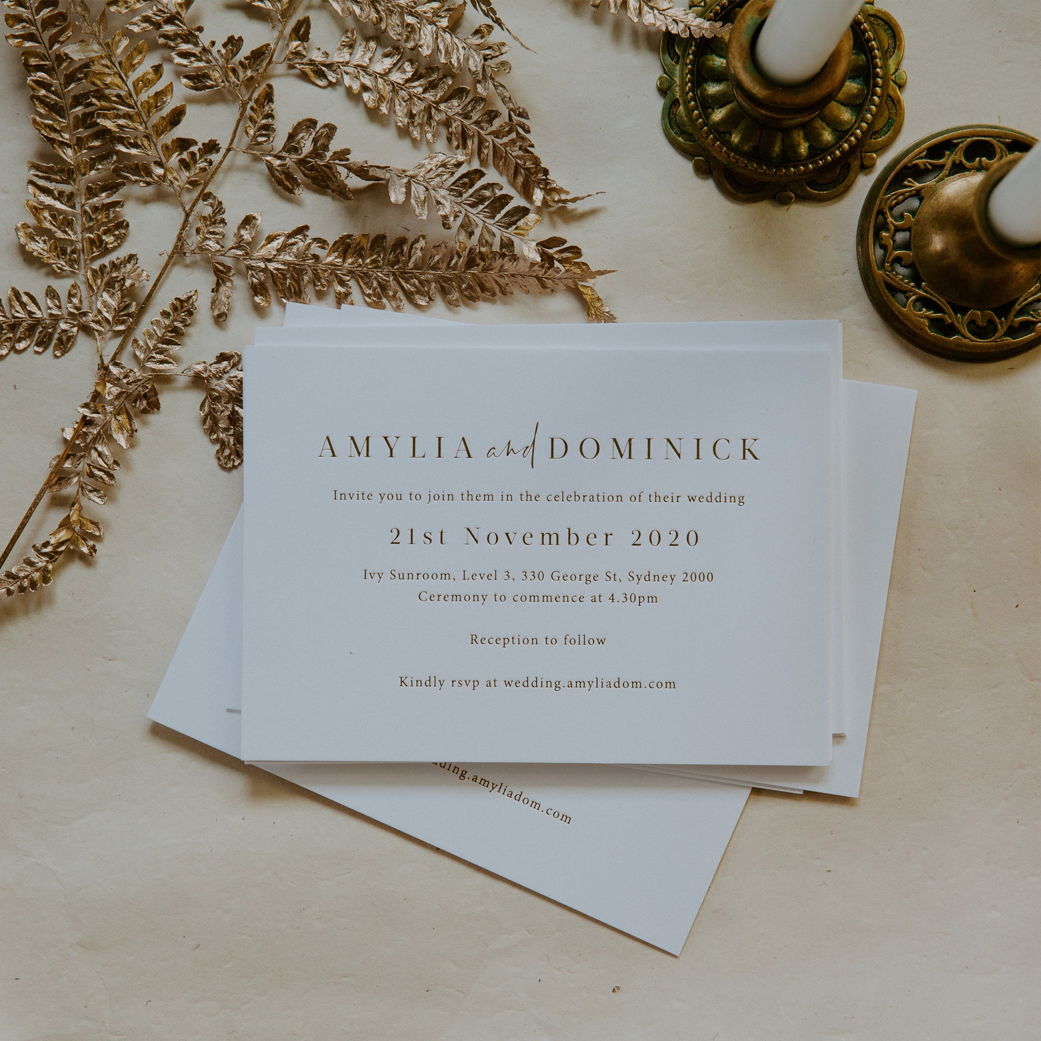 - MAIN INVITATION | Amylia + Dom
