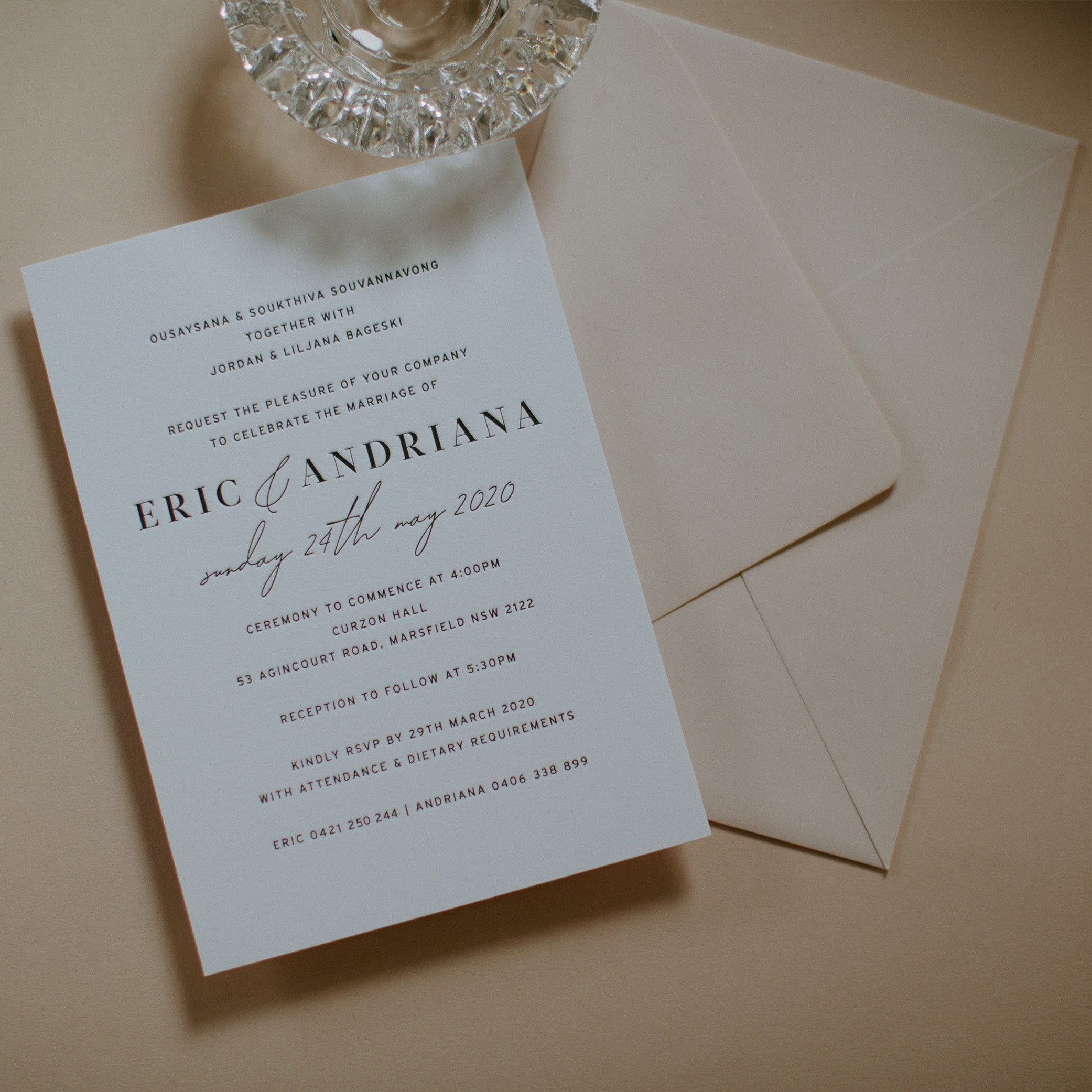 - MAIN INVITATION | Andriana + Eric