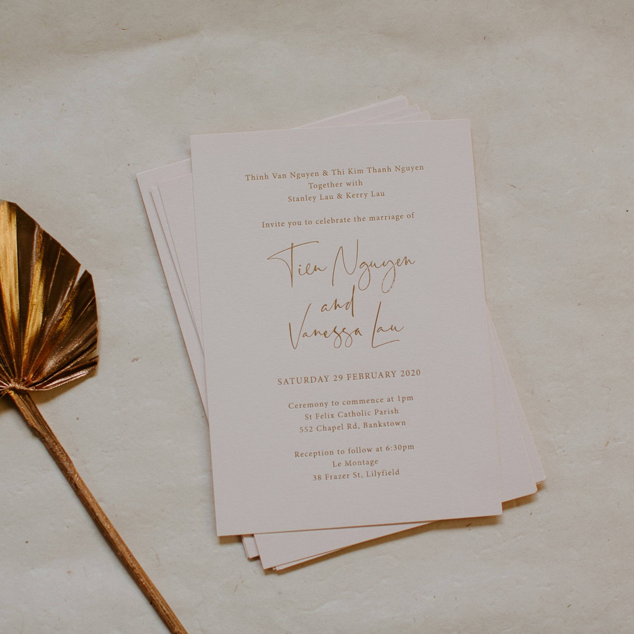 - MAIN INVITATION | Vanessa + Tien