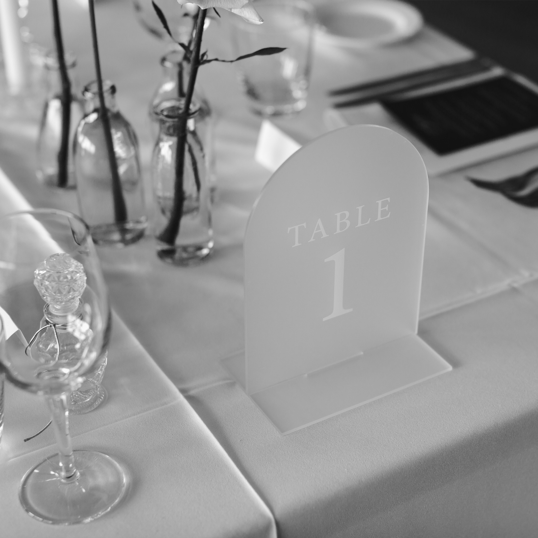 STATIONERY - ACRYLIC TABLE NUMBERS | Mr + Mrs Barathy