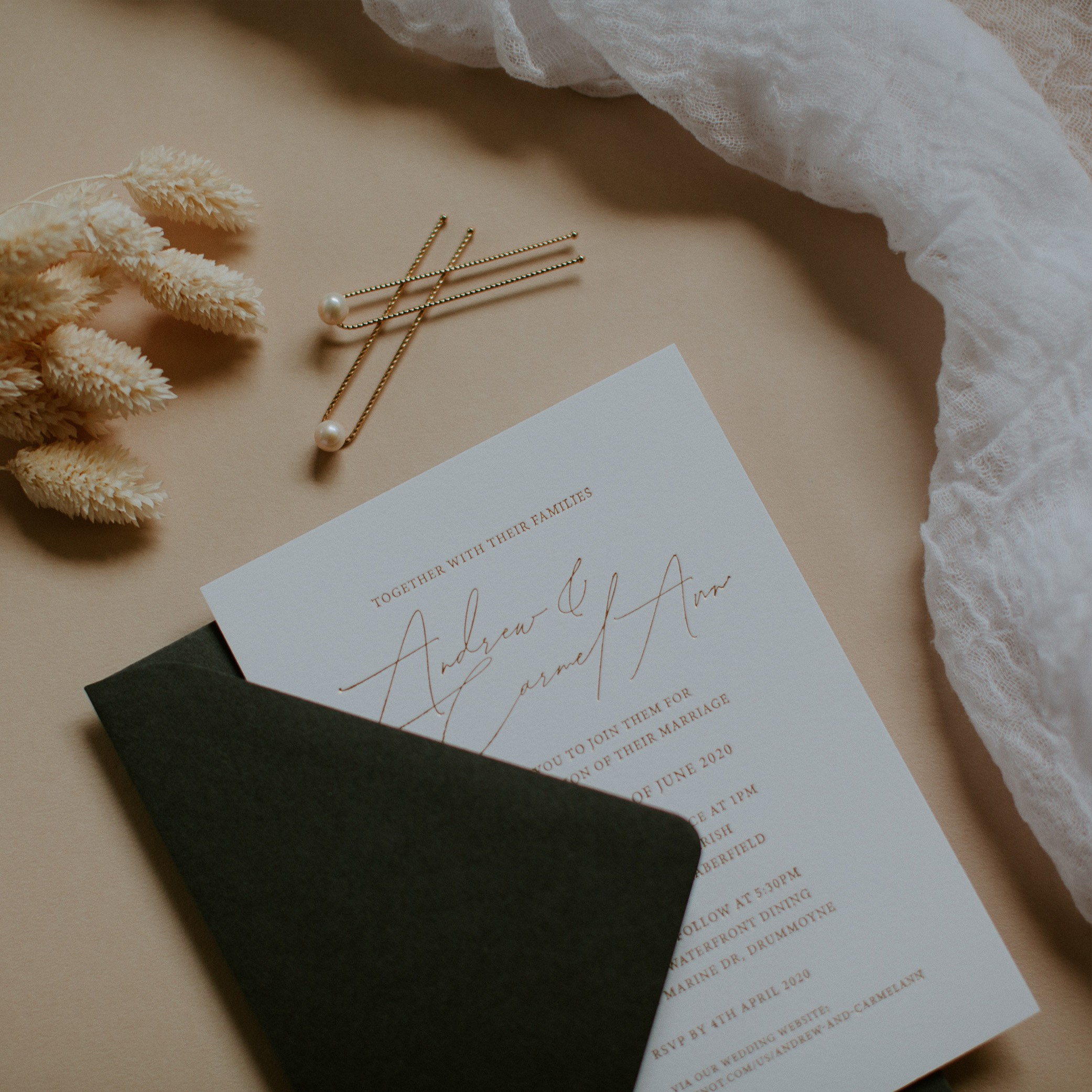 Wedding Invitations - LOVE LETTERS COLLECTION | Carmel- Ann + Andrew