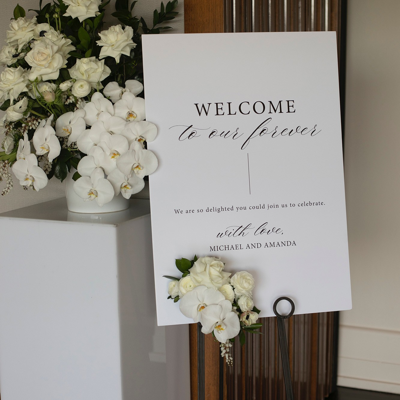 STATIONERY - WELCOME SIGN | Amanda + Michael