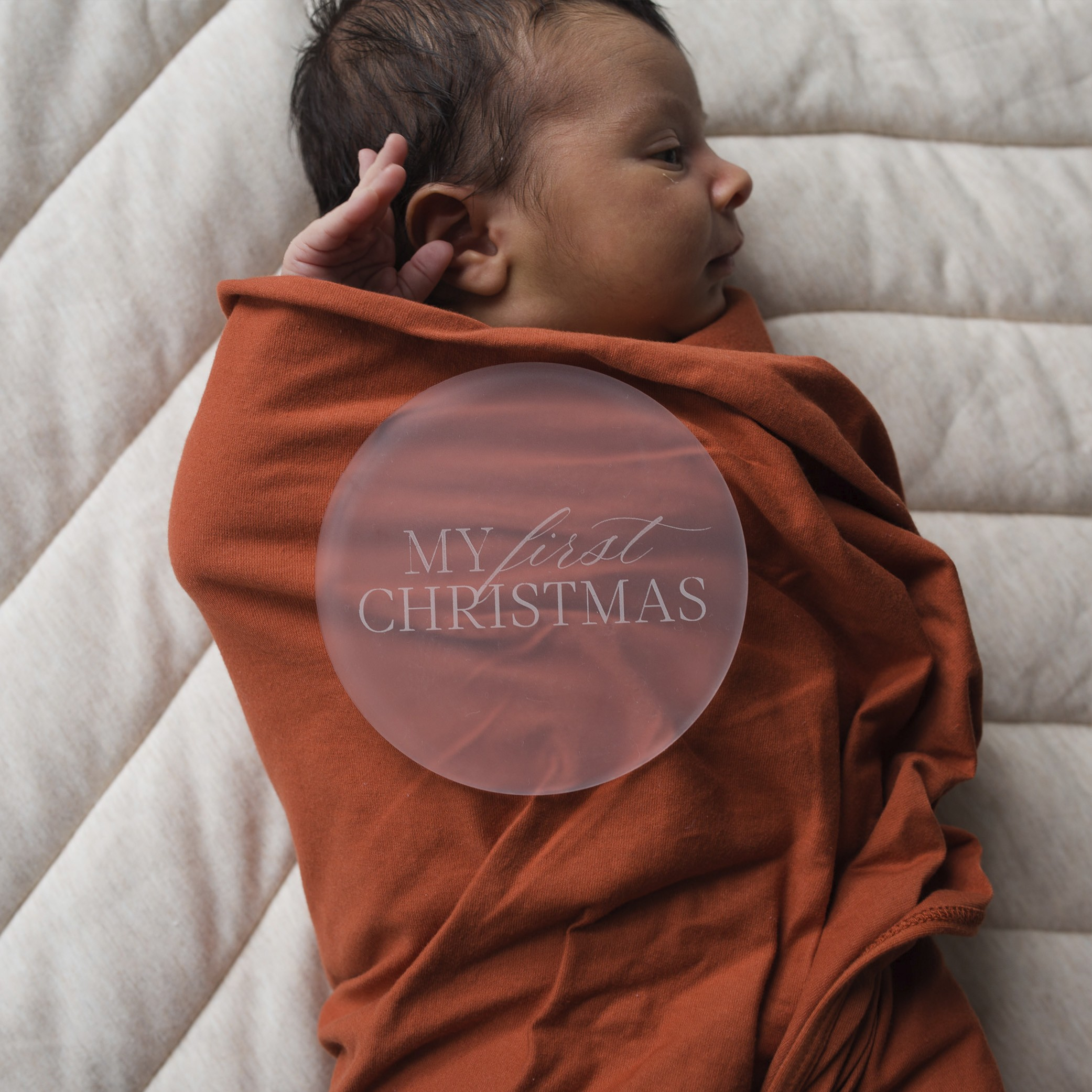 CHRISTMAS - My First Christmas   Frosted acrylic Milestone Plates