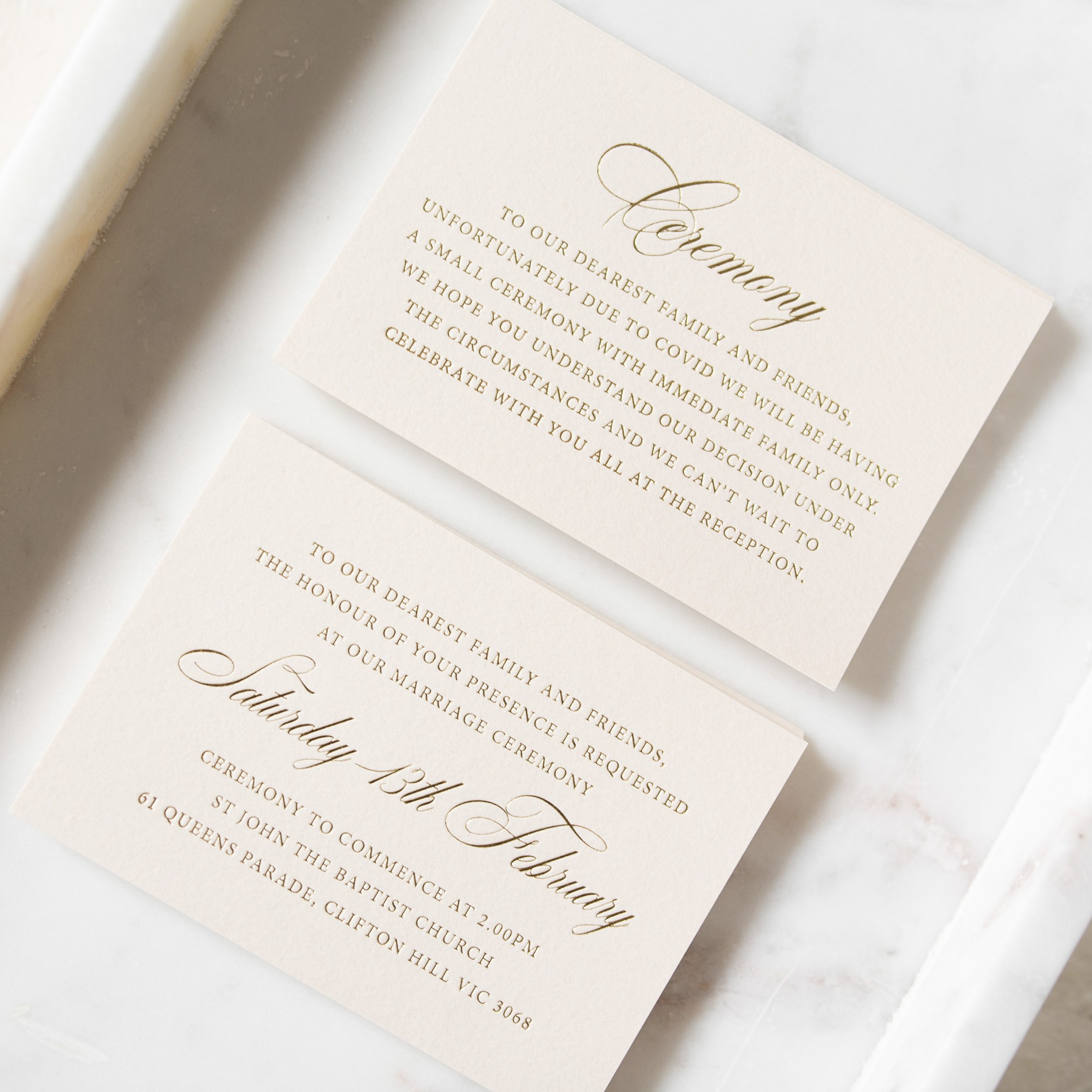 - THE DETAILS   Ceremony Cards