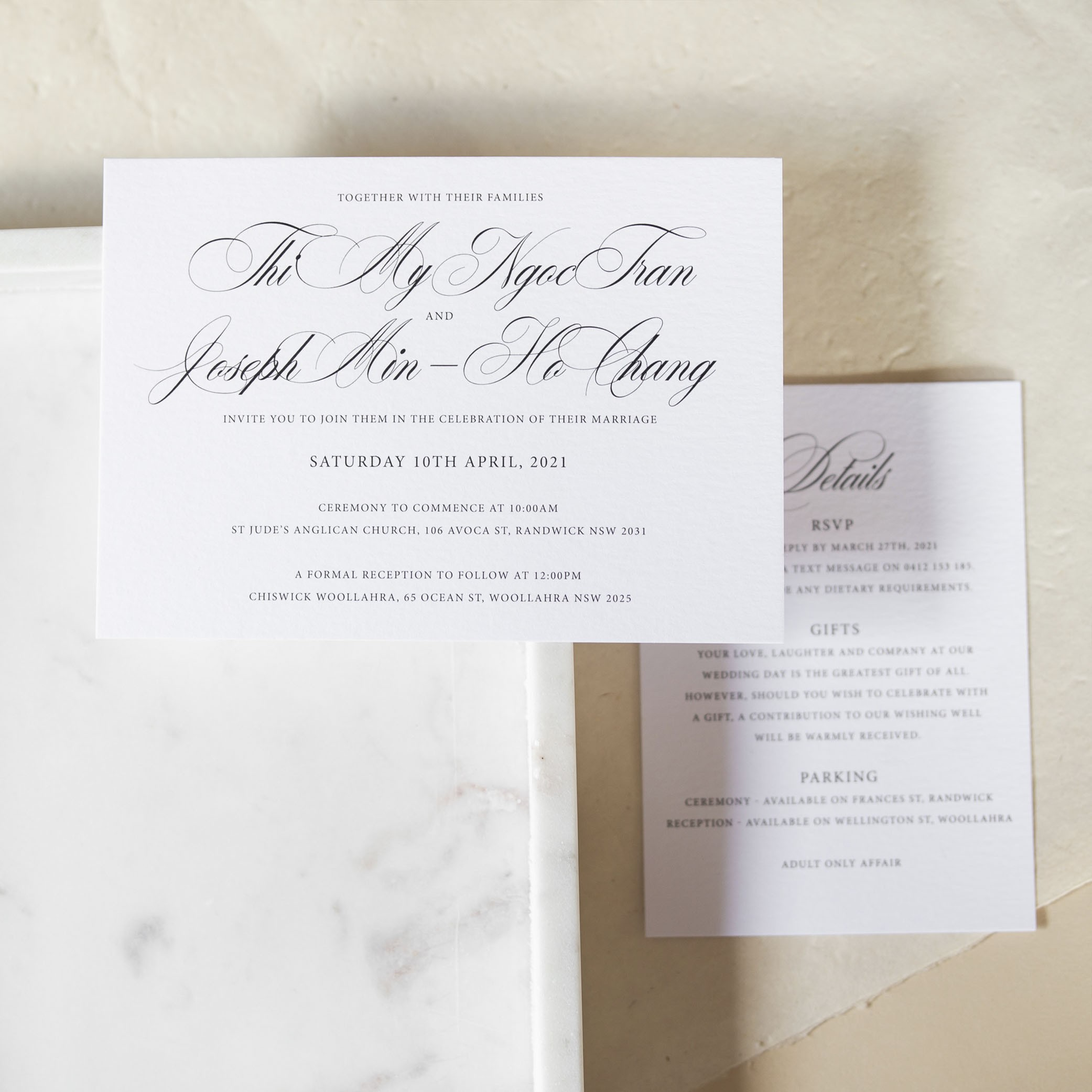 Wedding Invitations - LOVE LETTERS COLLECTION | Theresa + Joseph