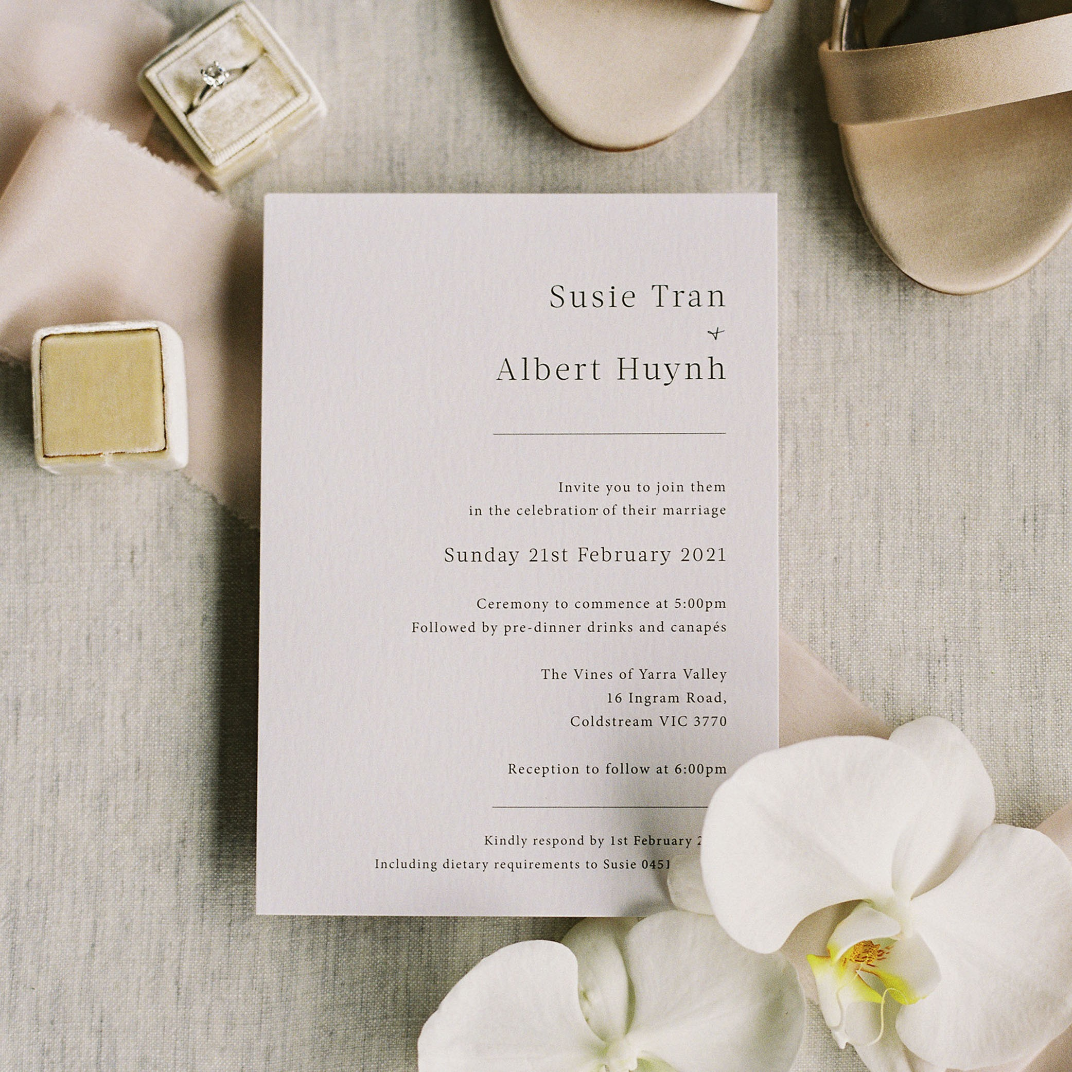 Wedding Invitations - LOVE LETTERS COLLECTION | Susie + Albert
