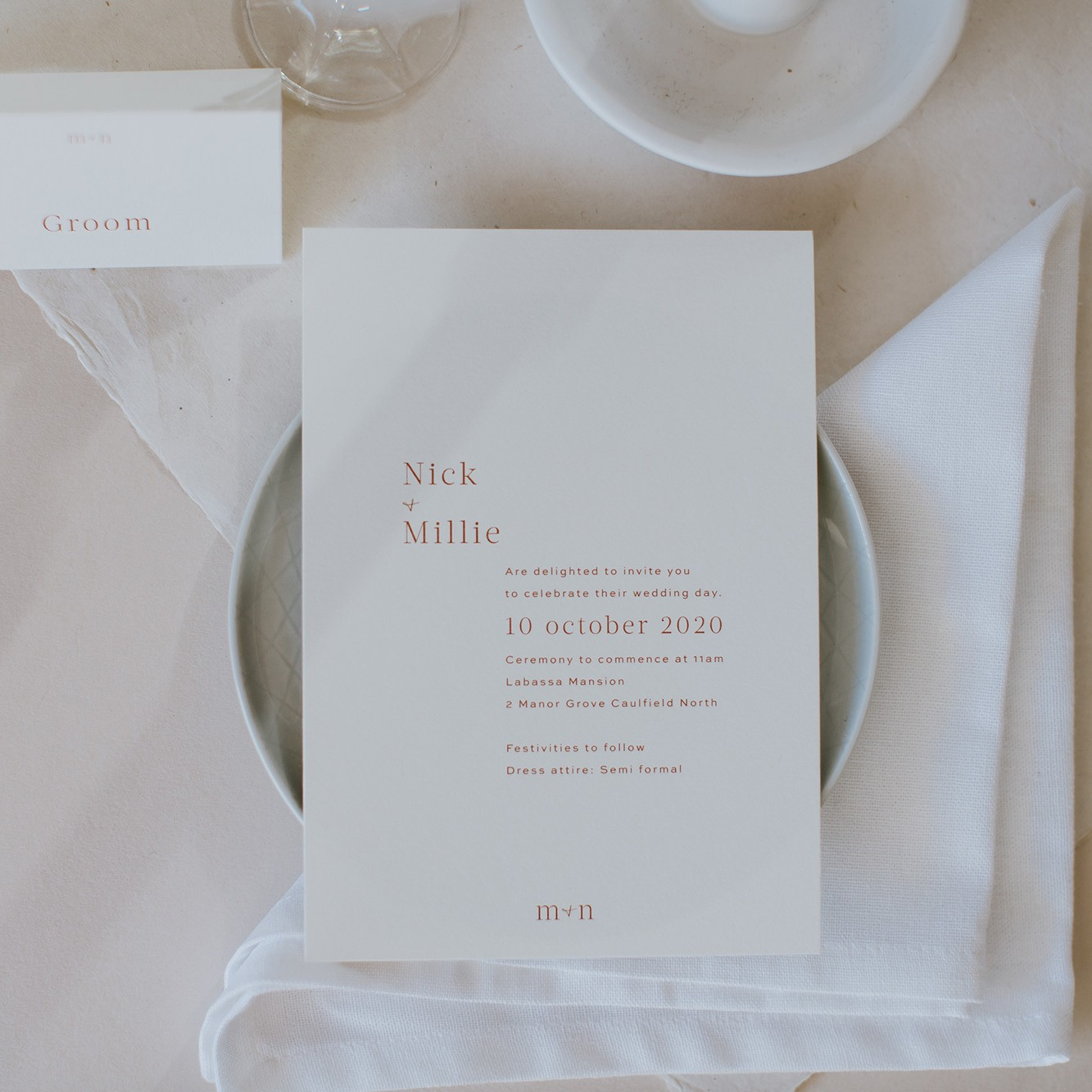 Wedding Invitations - LOVE LETTERS COLLECTION | Millie + Nick